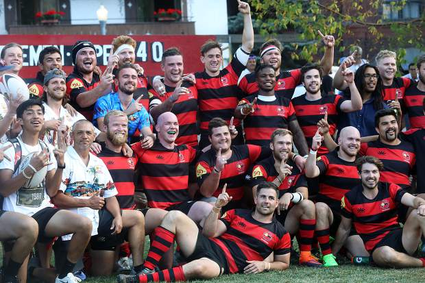 The Gentlemen of Aspen Rugby Football Club beat the Dark 'n Stormy Misfits in the Aspen Ruggerfest final, 40-38, for their first Ruggerfest title since 2015. (Photo by Austin Colbert/The Aspen Times).