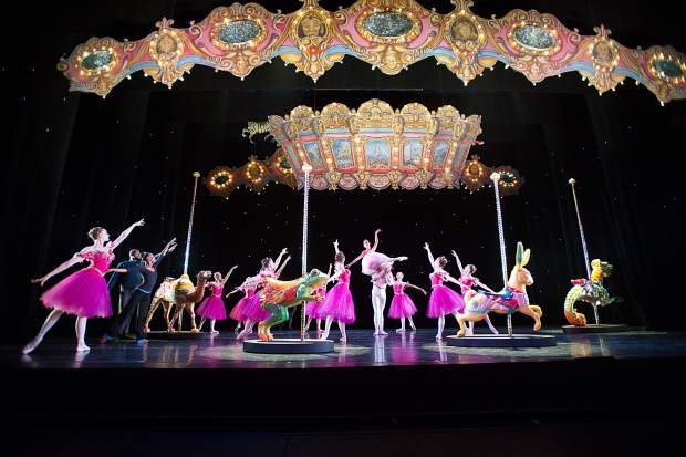 A scene from last year's Aspen Santa Fe Ballet dress rehearsal of the Nutcracker.