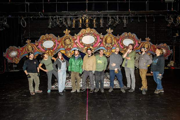 Production crew members for the Aspen Santa Fe Ballet's,
