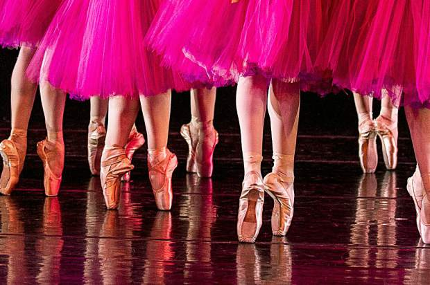 Ballet slippers during the