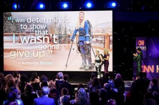 Amanda Boxtel, Bridging Bionics honored at CNN event in New York