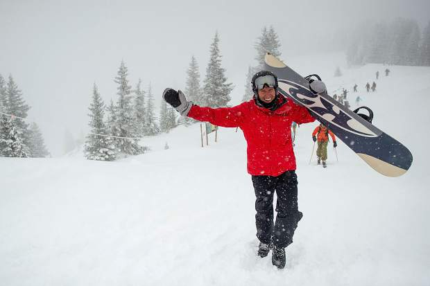 Rolf Fraser heads up Highland Bowl on Saturday for opening day.