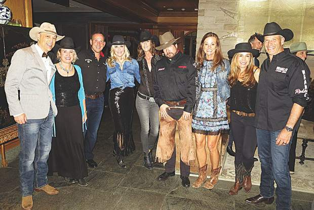 Dressed in their best Western attire - The Kulhmans, the Haisfields, the Korpelas, Lisa Baker and the Egglestons.