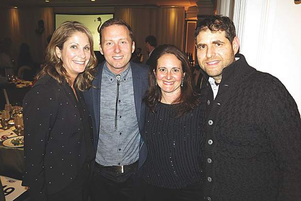 Julie and Christian Knapp with Alyssa and Ben Genshaft.