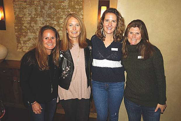 Katie Goldsmith, Cathy Grueter, Alexandra Hughes and Alex Kendrick at the Residences at The Little Nell.