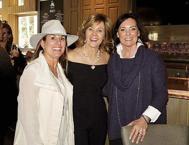 Elizabeth K. Slossberg, Ann Abernethy and Krista Klees at the Palladium Promises lunch.
