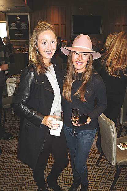EKS Events' Jess Hollinger and Casarae Clark at the Palladium Promises lunch.