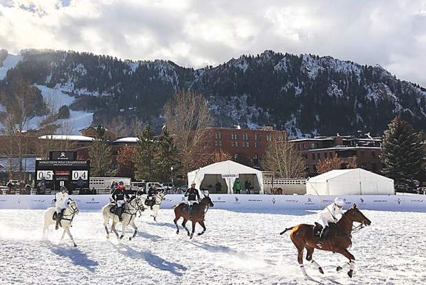 The 2018 St. Regis World Snow Polo Championship set in Rio Grande Park.