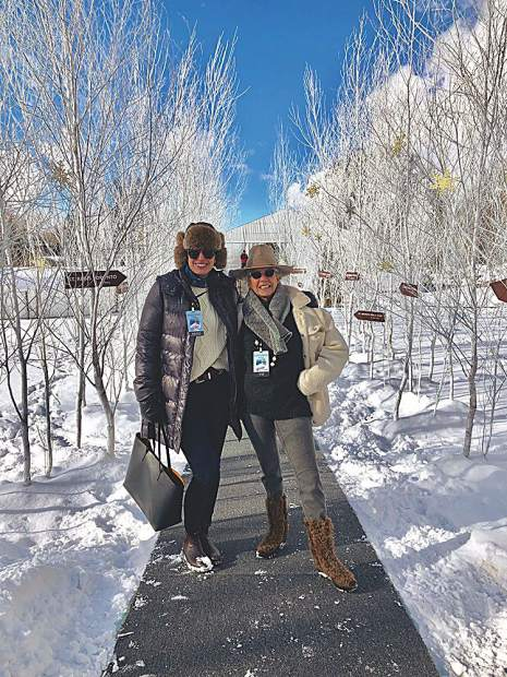 Aspen Peak editor Etta Meyer and publisher Alex Halperin at the World Snow Polo Championship.
