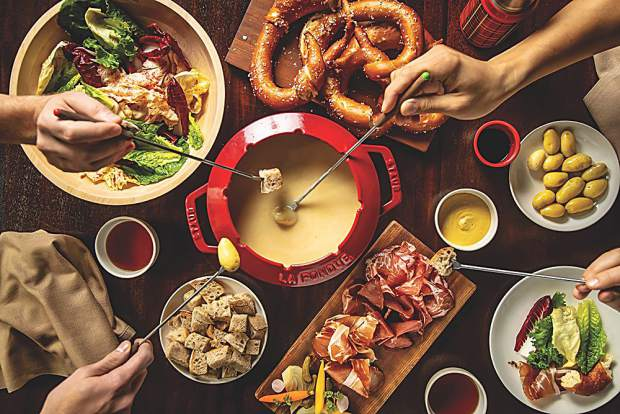 Fab fondue at EMP Winter House inspired by Chef Daniel Humm's upbringing in Switzerland.