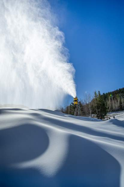 Snowmaking on Buttermilk Nov. 21, 2018