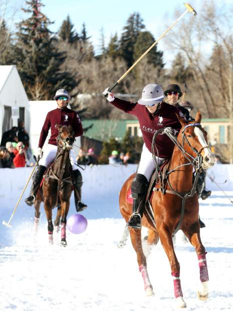 Richard Mille beat Flexjet in the final of the 2018 World Snow Polo Championship, 6-5, on Thursday, Dec. 20, 2018, at Rio Grande Park in Aspen. (Photo by Austin Colbert/The Aspen Times)
