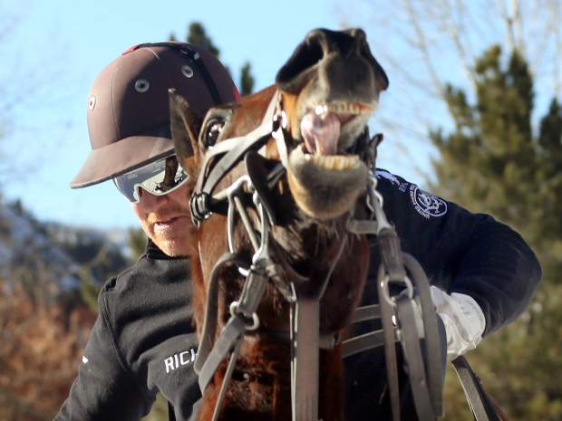 Marc Ganzi, pictured, and Richard Mille beat Flexjet in the final of the 2018 World Snow Polo Championship, 6-5, on Thursday, Dec. 20, 2018, at Rio Grande Park in Aspen. (Photo by Austin Colbert/The Aspen Times)