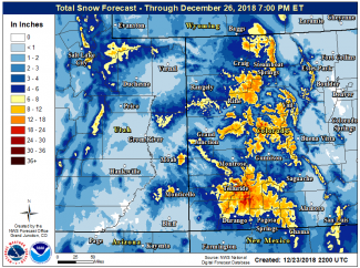 NWS: Winter weather advisory for Aspen area issued through Christmas Eve