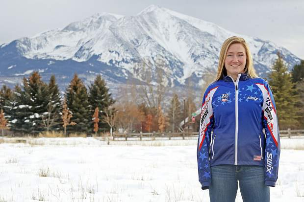 Aspen Valley Ski and Snowboard Club athlete Kate Oldham, who lives in Carbondale and attends Colorado Rocky Mountain School, was one of six women named to the U.S. team for the U18 Nordic Nations event, to be held later this month in Estonia. (Photo by Austin Colbert/The Aspen Times).