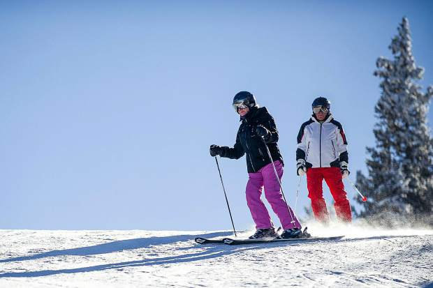 01a6fb9cc0 Local Aspen senior skiers Judy Bleiler and Harry Richard ski on Ajax on  Dec. 29. Anna Stonehouse The Aspen Times