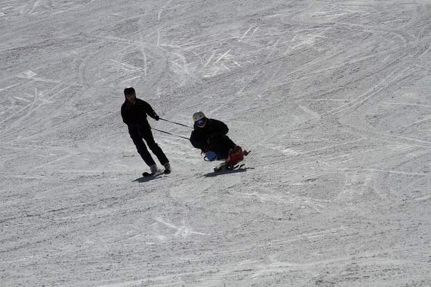 Griff Smith, left, and longtime pal and Pitkin County Assessor Tom Isaac out skiing.