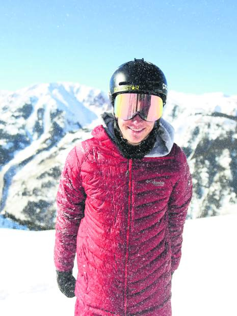 Olympic silver medalist halfpipe skier and Aspen native Alex Ferreira at the top of Aspen Highlands on Friday, Jan. 4, 2018. (Photo by Austin Colbert/The Aspen Times)