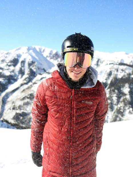Olympic silver medalist halfpipe skier and Aspen native Alex Ferreira enjoys the snow at the top of Aspen Highlands on Friday, Jan. 4, 2019. (Photo by Austin Colbert/The Aspen Times)