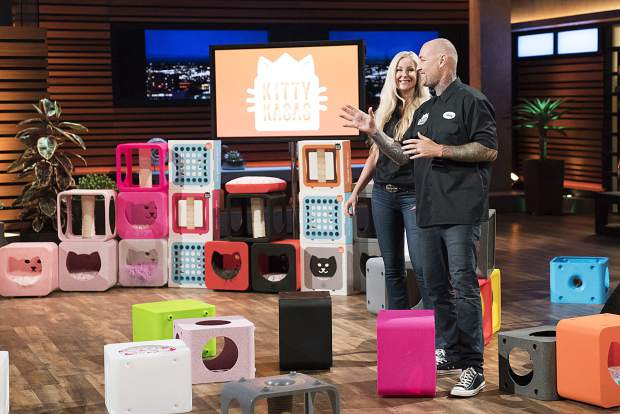 Ex-biker entrepreneurs from Emma pitch their Kitty Kasas on Shark Tank Sunday