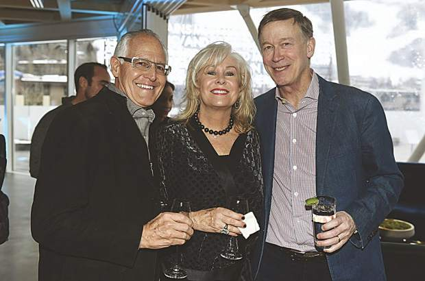 John and Jan Sarpa with Colorado Governor John Hickenlooper at The Next. Riccardo S. Savi photo.