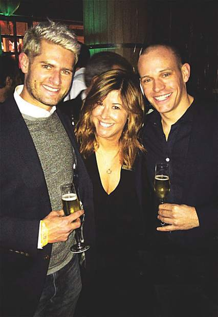 : Dave Musser, Lauren New and Chris Schaetzle at the Dom Perignon Party. Courtesy photo.