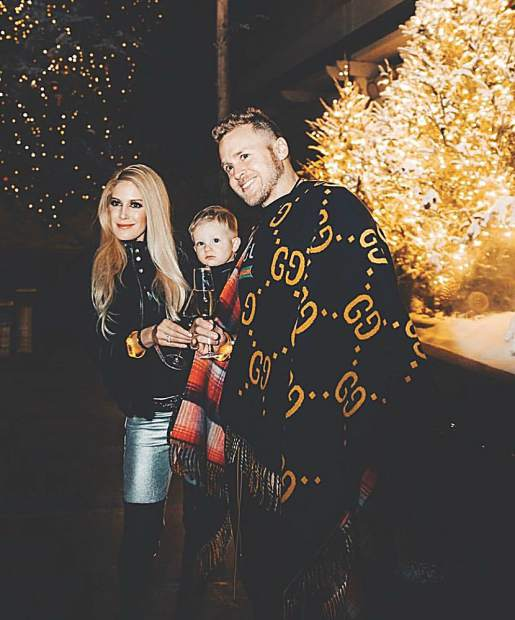 Heidi, Gunner and Spencer Pratt at the Dom Perignon Party. Courtesy photo.