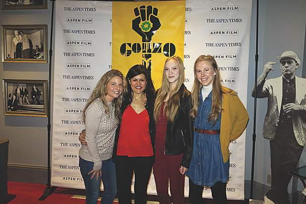 Aspen Film's Audrey Allen, Susan Wrubel, Emma Martin and Milana Perry at the Wheeler.