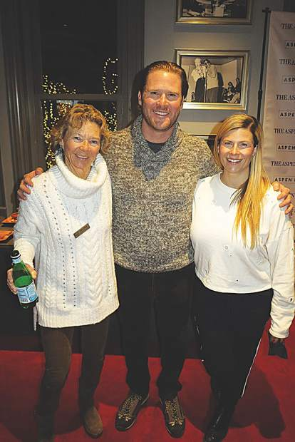 Judy Dunn, Aspen Film board president Ryan Brooks and treasurer Jessica Latham.