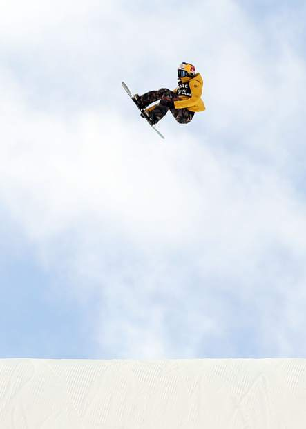 California's Hailey Langland sends it during the X Games Aspen women's snowboard slopestyle finals on Saturday, Jan. 26, 2019, at Buttermilk Ski Area. (Photo by Austin Colbert/The Aspen Times)