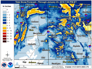 Winter storm with high winds rolling through Aspen, central mountains