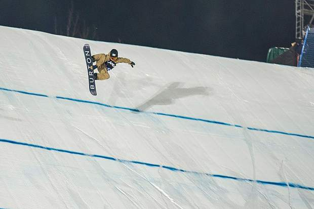 Red Gerard of Silverthorne competes in the knuckle huck at X Games on Saturday night, a new event this year.