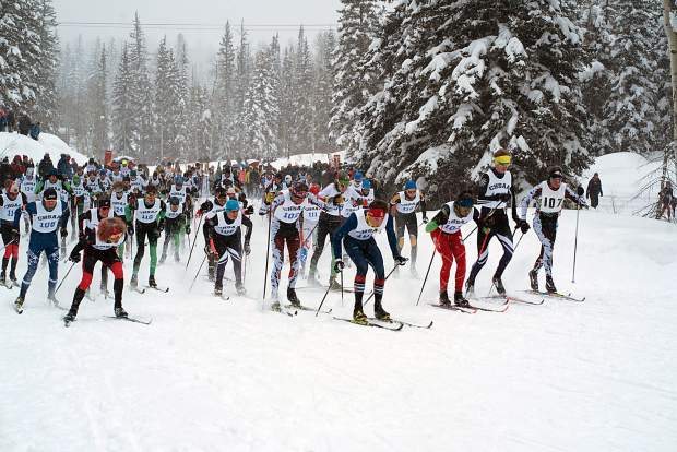 A total of 86 boys started and finished the 5-kilometer Nordic classic race Thursday on the opening day of the CHSAA state skiing championships at the Durango Nordic Center.