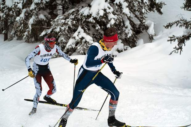 Vail Mountain's Cameron Wolfe held off Aspen's Everett Olson to claim a second consecutive CHSAA state skiing championship in the Nordic classic event Thursday at the Durango Nordic Center.