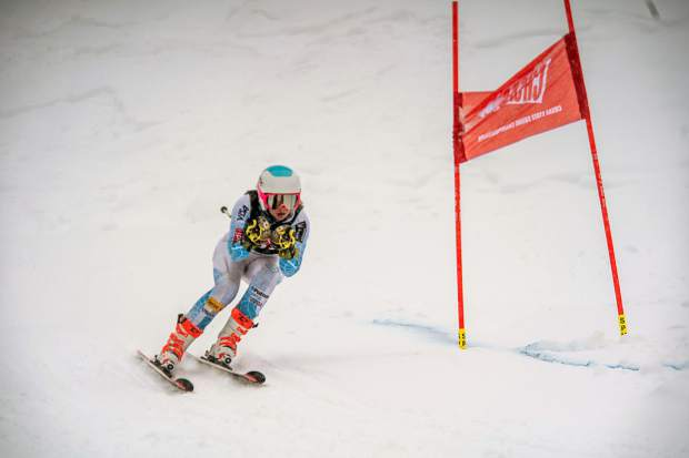 Aspen's Levyn Thomas claimed a giant slalom CHSAA state championship Thursday at Purgatory Resort with her winning time of 39.61 seconds.