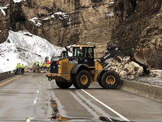 Close call for driver in Glenwood Canyon
