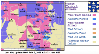 Aspen area in winter storm warning until Thursday; avalanche warning for backcountry