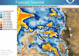 Snow totals could near a foot around Aspen area by Sunday night