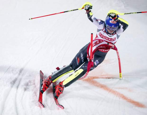 Mikaela Shiffrin locks up another slalom title with 14th World Cup win of season