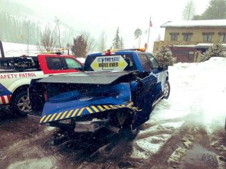 Safety vehicle hit in accident on Vail Pass