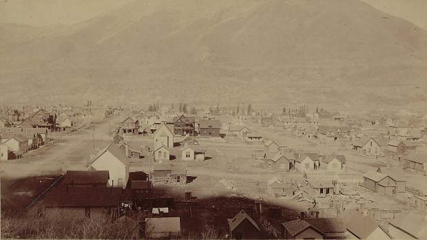 This photograph of the Aspen townsite from Aspen Mountain is among the pieces in a new exhibition at Valley Fine Art.