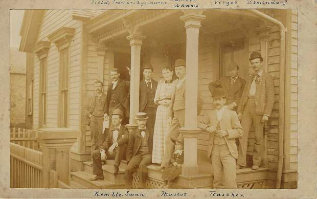 Tenants at the Teuscher Boarding House in Aspen.