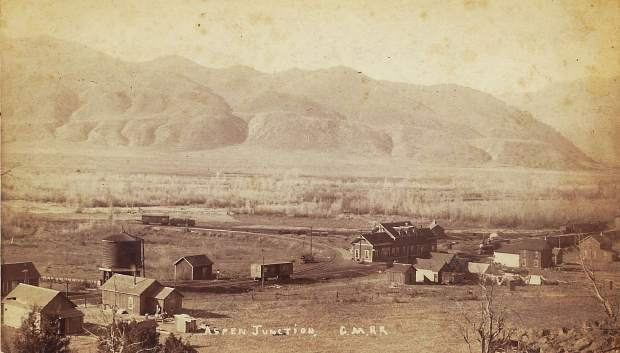 Aspen Junction, on the site of what is now Basalt, photographed in the 1880s.