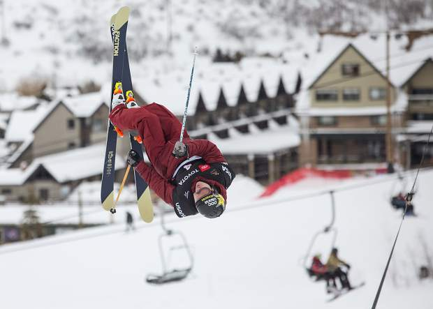 Aspen's Alex Ferreira competes in the FIS World Championship's freeski halfpipe finals at Park City Mountain Resort on Saturday, February 9, 2019. (Tanzi Propst/Park Record)