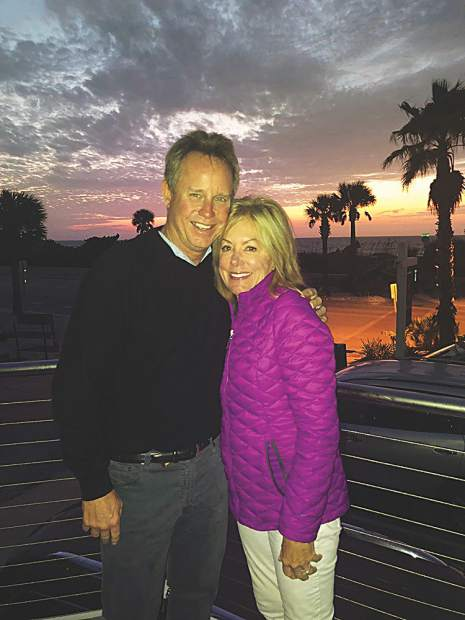 Rusty and Cathy Schubert soak up the sun on a trip to Baja Point, Mexico.