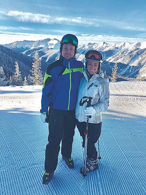 Dmitri Boguslavsky and Molly McCorkle of Manhattan on an Aspen ski getaway.
