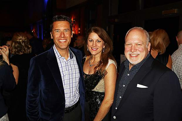 Ascendigo President and CEO Peter Bell with Lugano Diamonds' Dana Presutti and Stuart Winston.