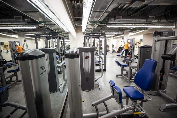 The newly remodeled weight lifting area in the Aspen Rec Center on Wednesday.