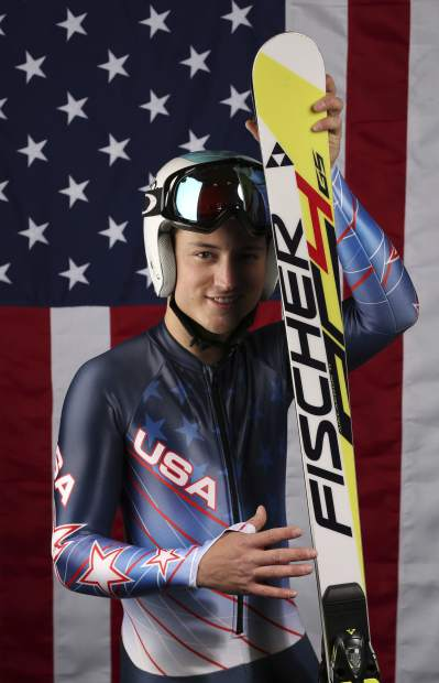 FILE - In this Sept. 26, 2017, file photo, United States Olympic Winter Games Paralympic Alpine skier Thomas Walsh poses for a portrait at the 2017 Team USA Media Summit, in Park City, Utah. Ten years ago, ski racer Thomas Walsh was diagnosed with cancer that ended up taking his pelvis. By his side that day was Olympic champion Mikaela Shiffrin. She remains one of his biggest fans as Walsh rises through the ranks as a Paralympian. (AP Photo/Rick Bowmer, File)