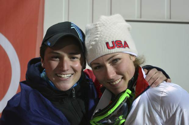 In February 2014, Thomas Walsh and Mikaela Shiffrin pose in Sochi, Russia. Ten years ago, ski racer Thomas Walsh was diagnosed with cancer that ended up taking his pelvis. By his side that day was Olympic champion Mikaela Shiffrin. She remains one of his biggest fans as Walsh rises through the ranks as a Paralympian.